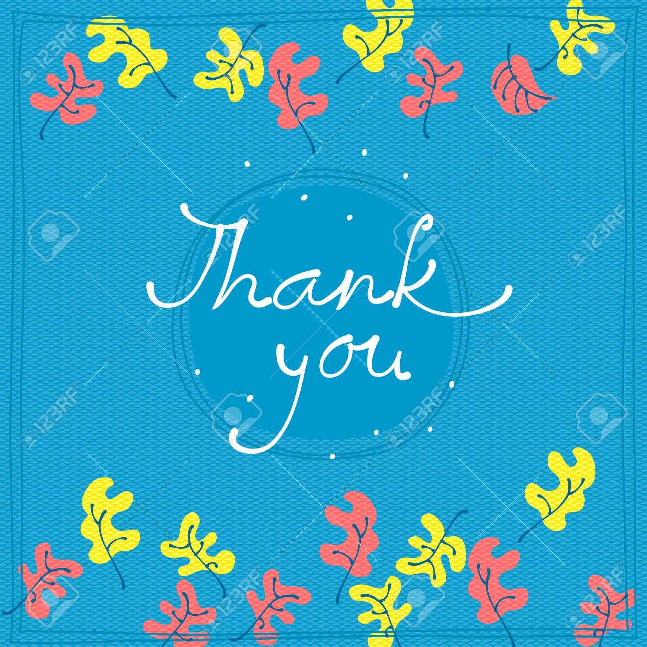 Thank You Card Design Template Simple Greeting Card Elegant Royalty Free Cliparts Vectors And Stock Illustration Image 88543282