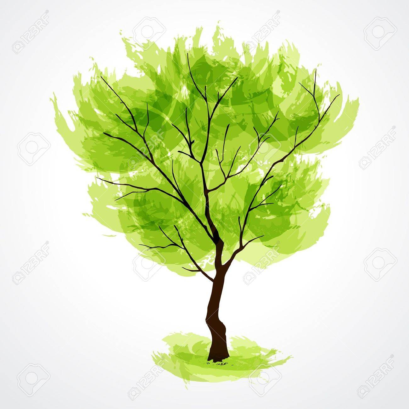 Vector illustration of stylized summer tree. EPS 10 Stock Vector - 9929684