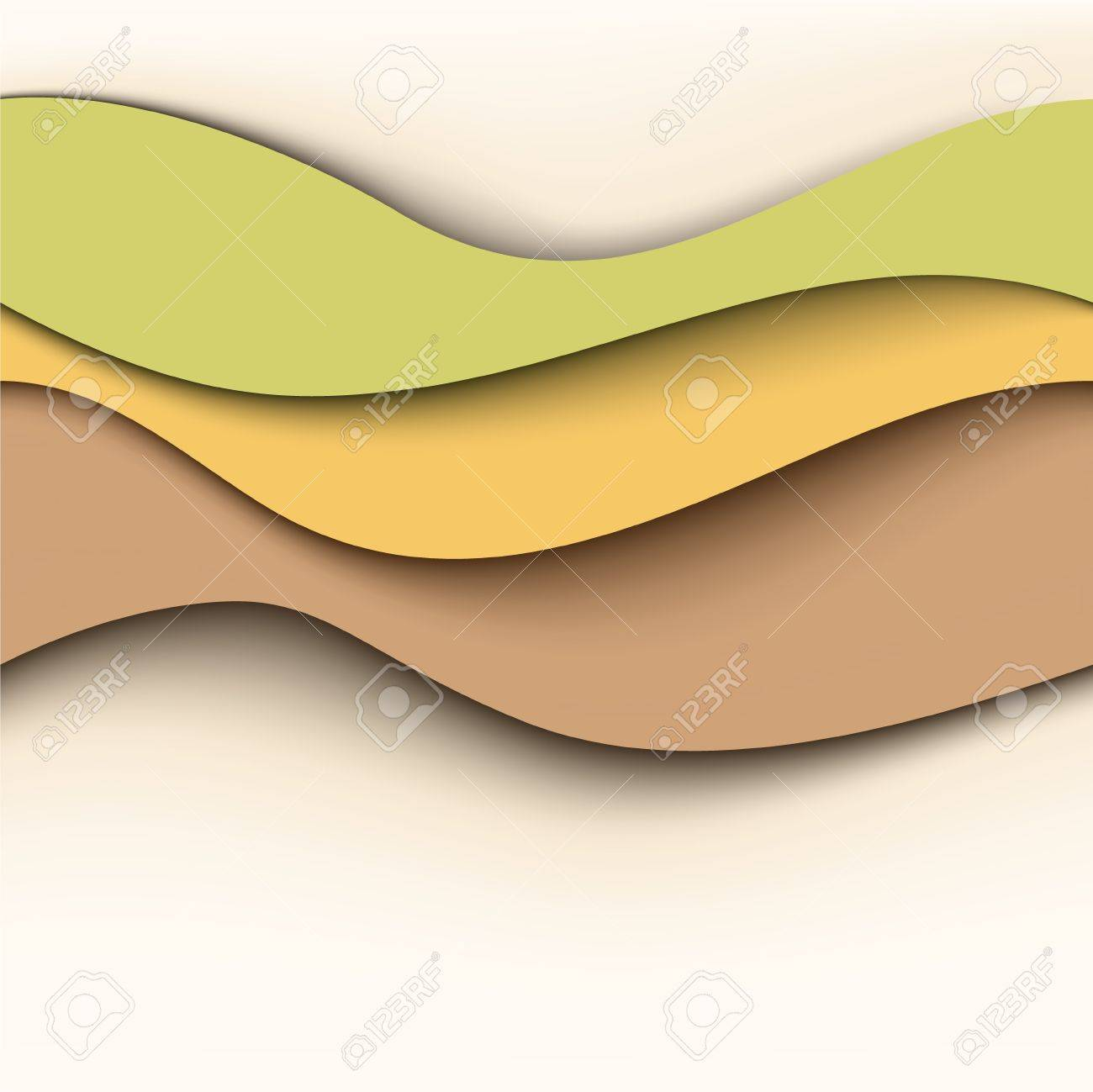 Abstract wavy background  Natural colors Stock Vector - 13557172