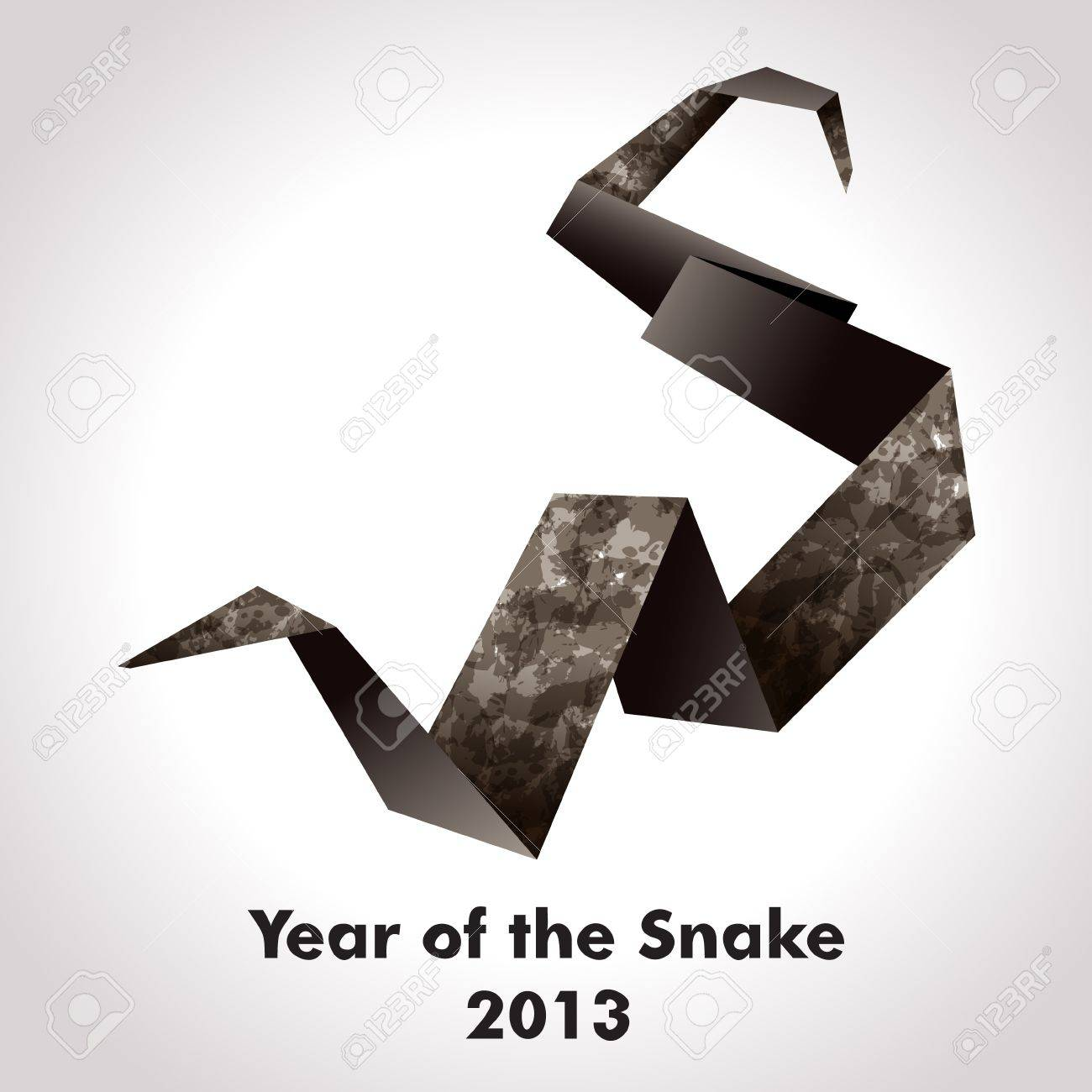 Year of the Snake design  Origami Stock Vector - 14404755