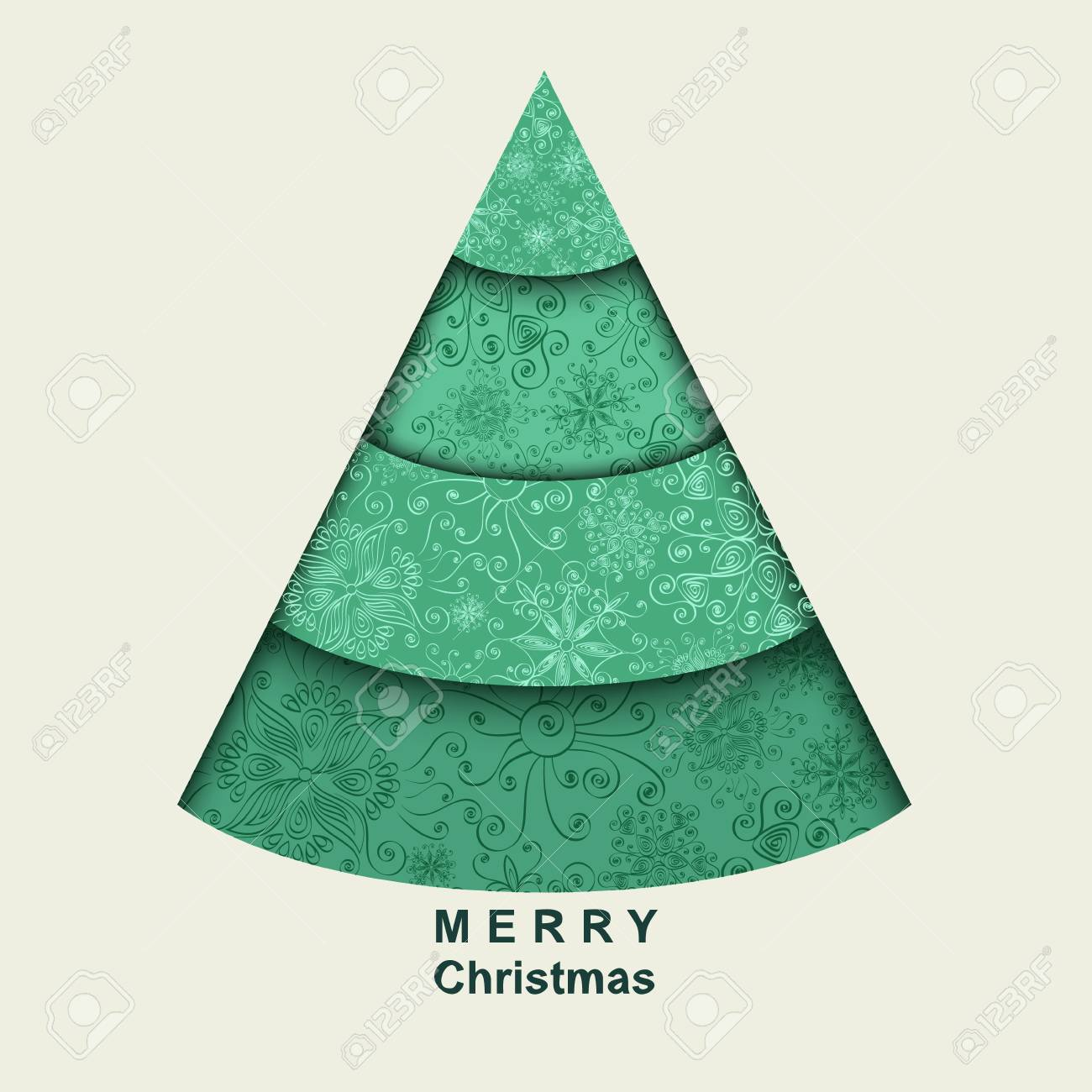 Stylized Christmas tree  Card Stock Vector - 15734669