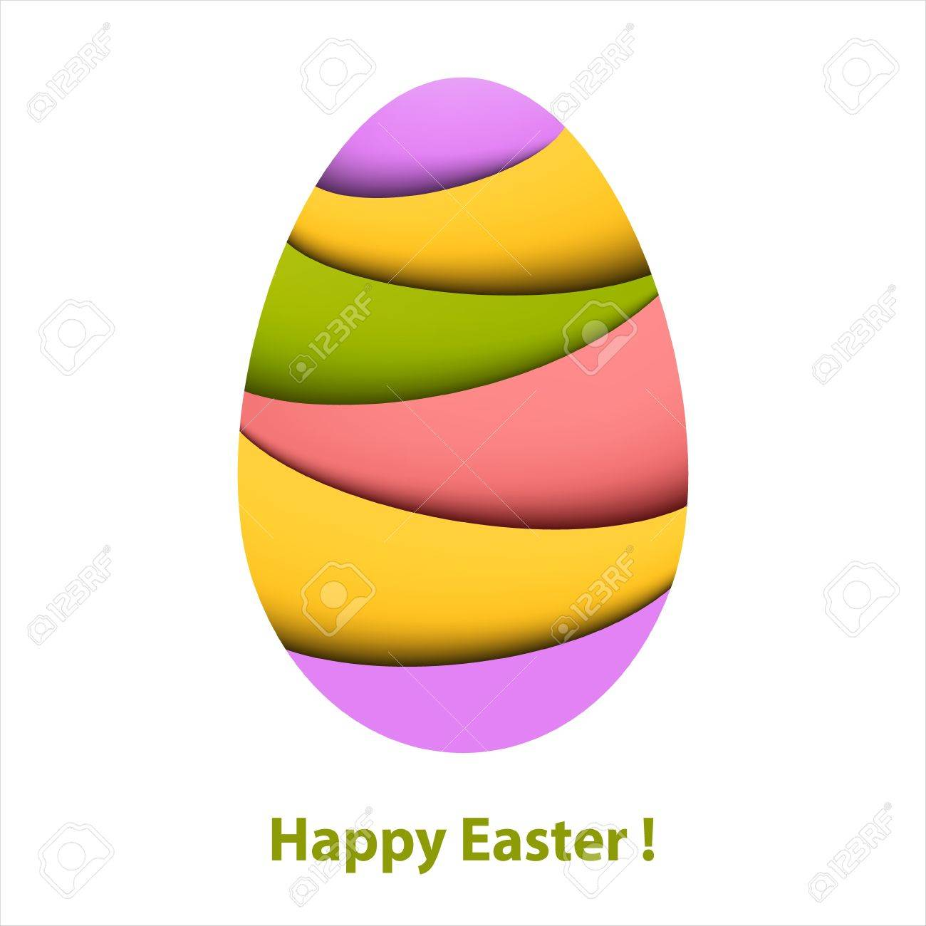 Colorful striped easter egg  Paper card Stock Vector - 17781145