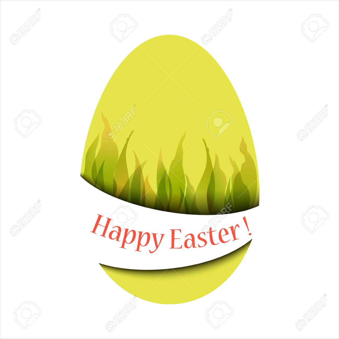 Easter card with the words Happy Easter Stock Vector - 17781150