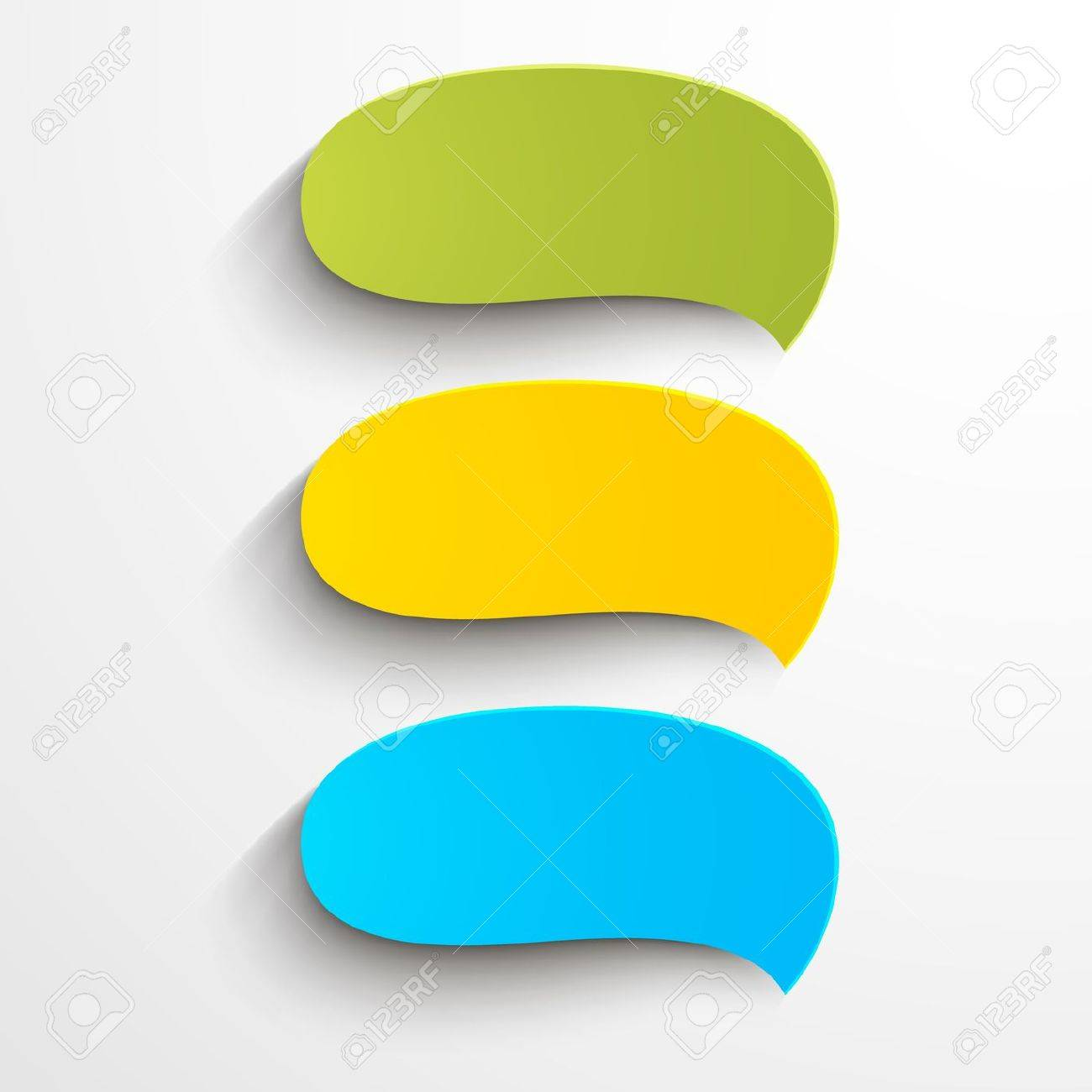 Abstract colorful paper speech bubbles Stock Vector - 17990120