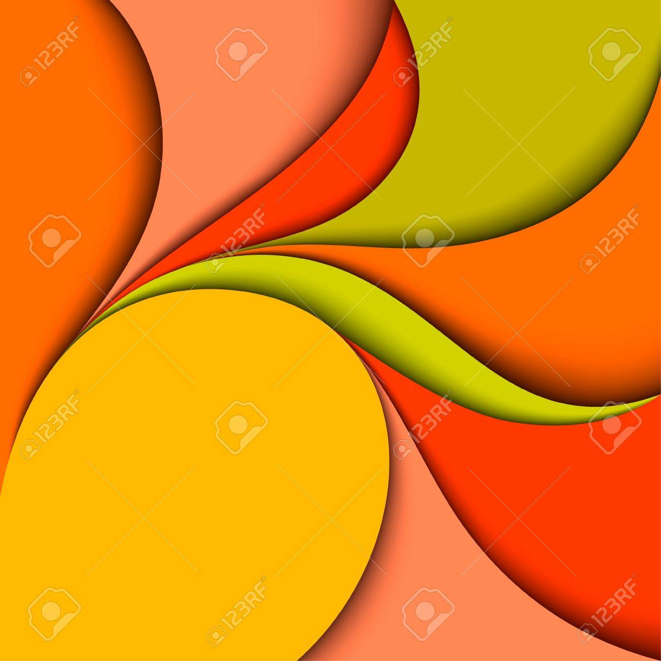 Colorful wavy design  Abstract background  Paper layers Stock Vector - 20988682