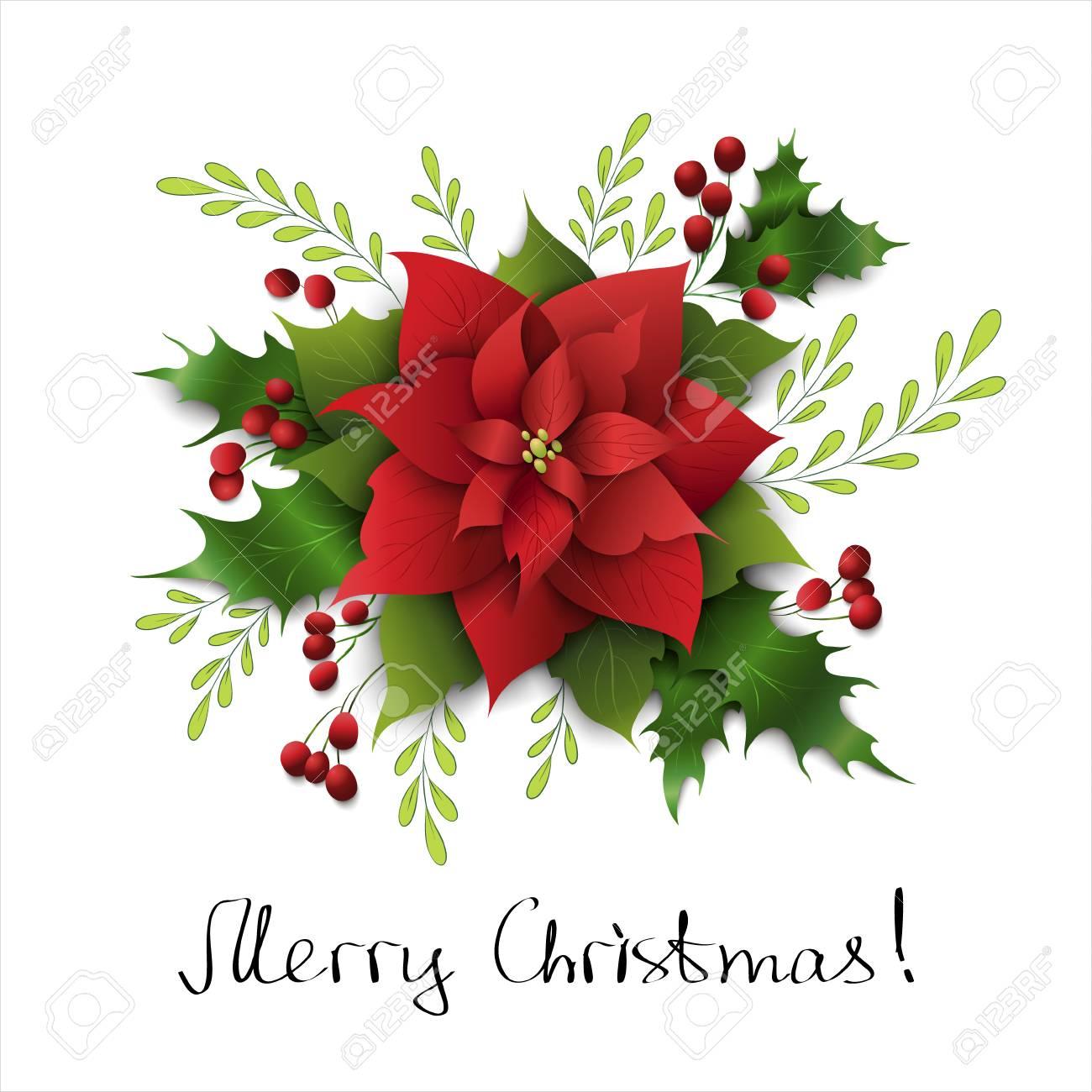 Disegni Di Natale Vettoriali.Priorita Bassa Di Disegno Di Natale Con Stella Di Natale E Vischio