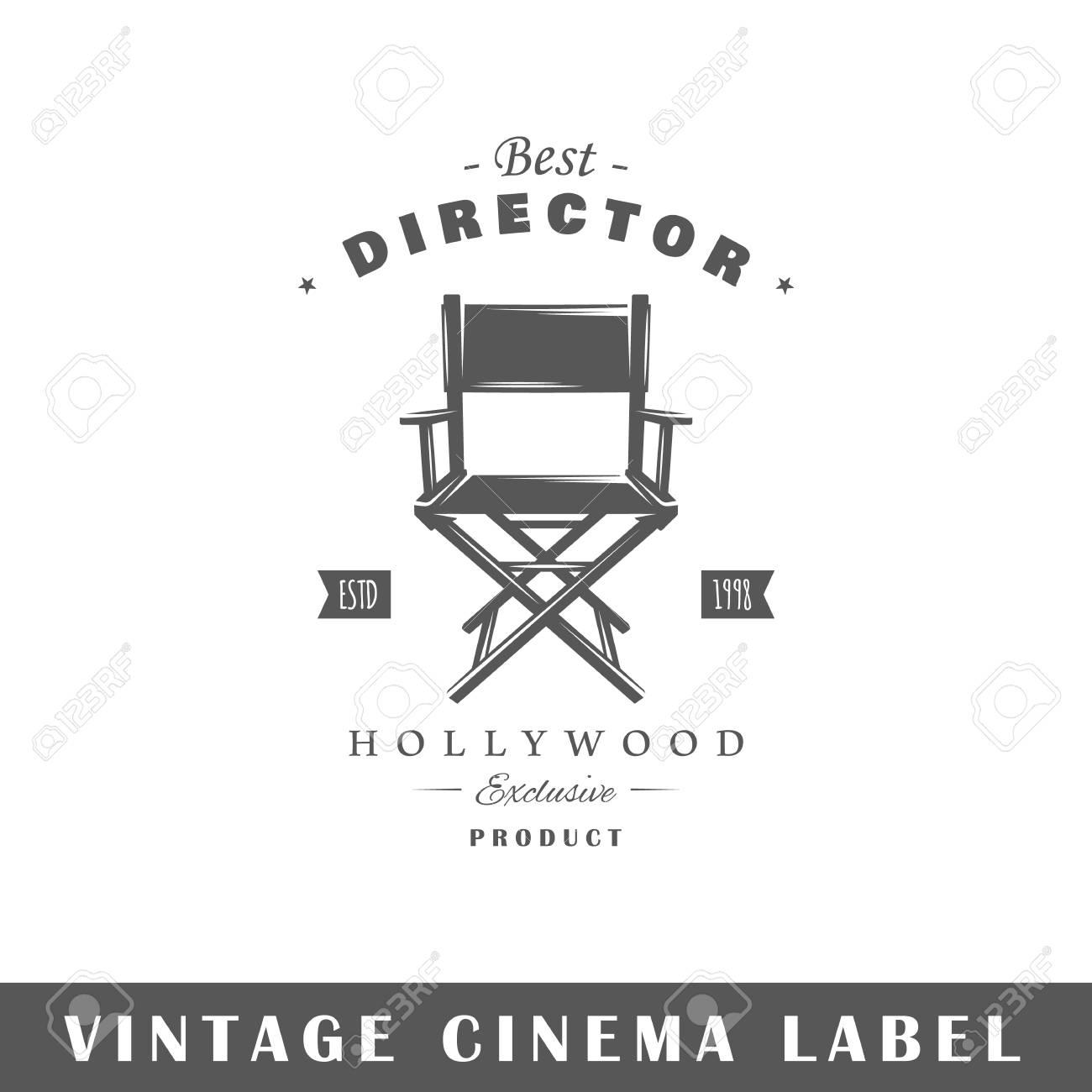 Etiqueta De Cine Aislada Sobre Fondo Blanco. Elemento De Diseño ...