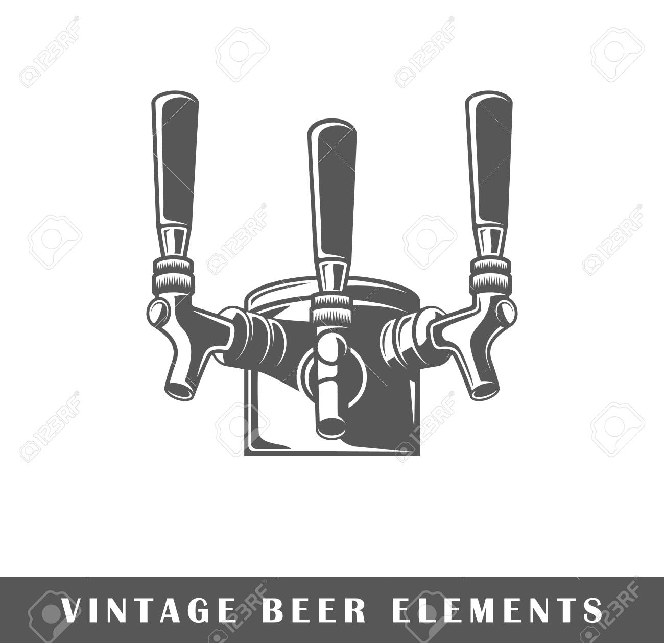 Beer taps isolated Vector illustration - 91821195