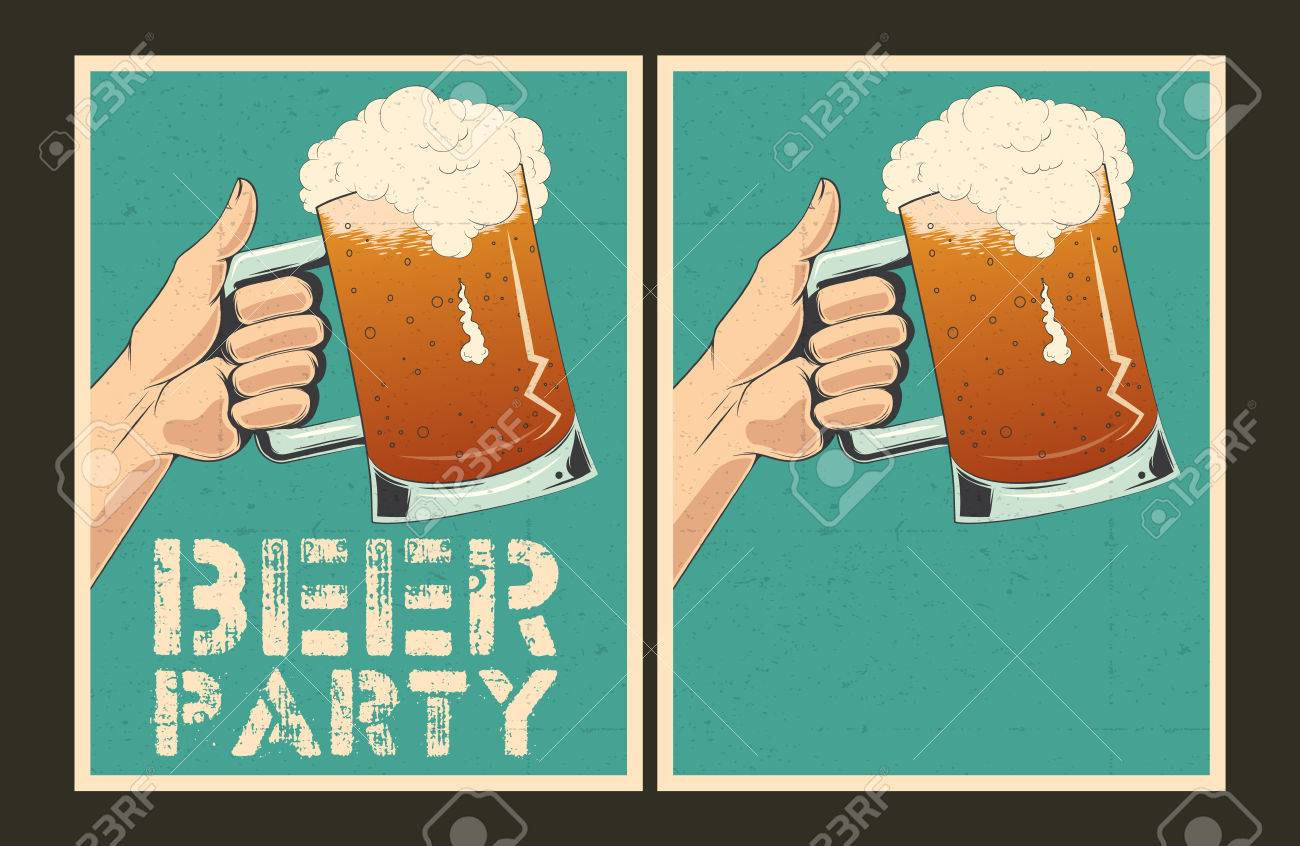 Set of beer party posters vector illustration and invitation set of beer party posters vector illustration and invitation template stock vector 37380596 stopboris Gallery