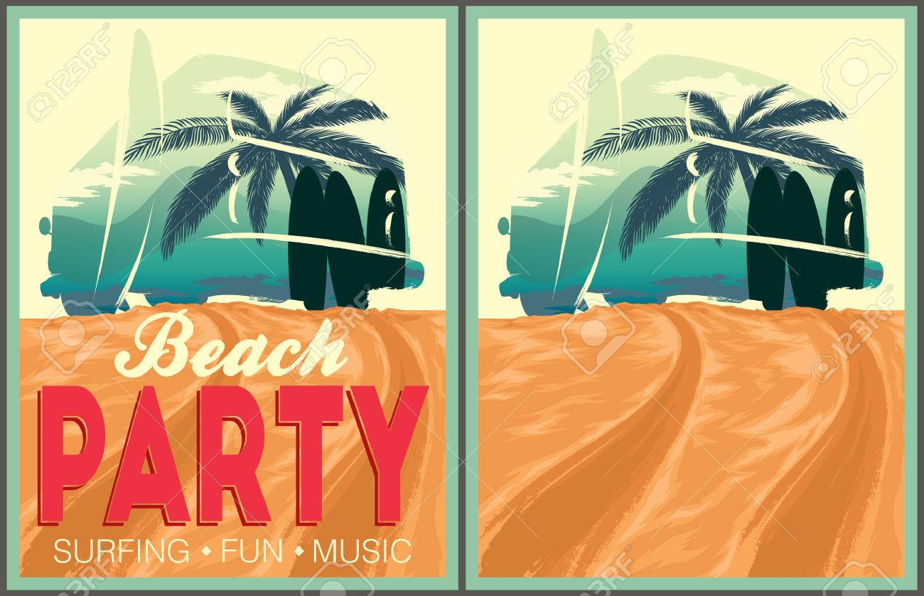 Beach party poster and invitation template royalty free cliparts beach party poster and invitation template stock vector 43769762 stopboris Image collections