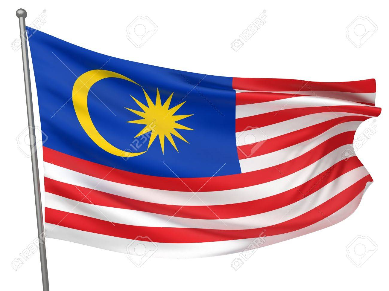 Malaysia National Flag  | All Countries Collection - Isolated Image Stock Photo - 9962012
