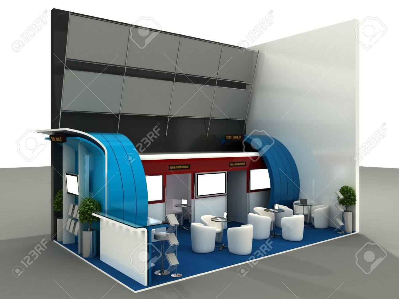 Exhibition Stand Interiors : Exhibition stand interior sample computer art d series stock