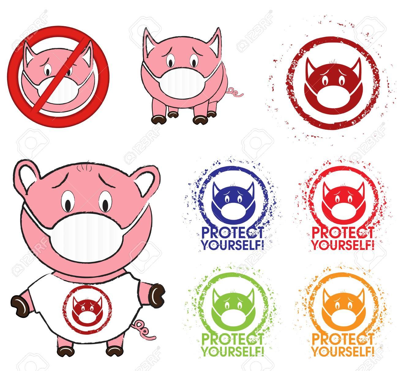 Swine flu Stock Vector - 13250461