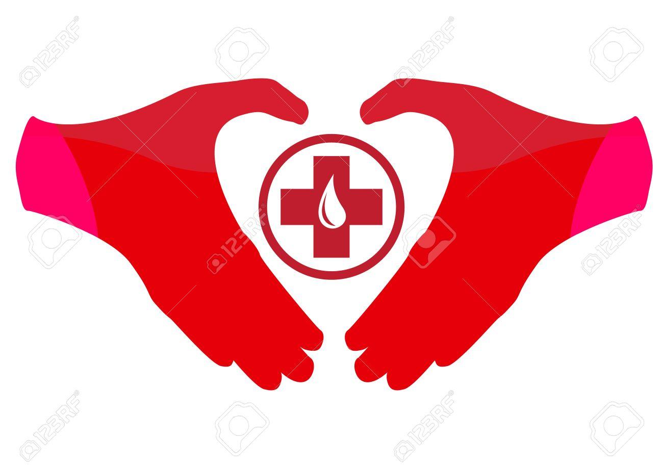 Blood Donation Emblem Template Stock Vector - 13250564