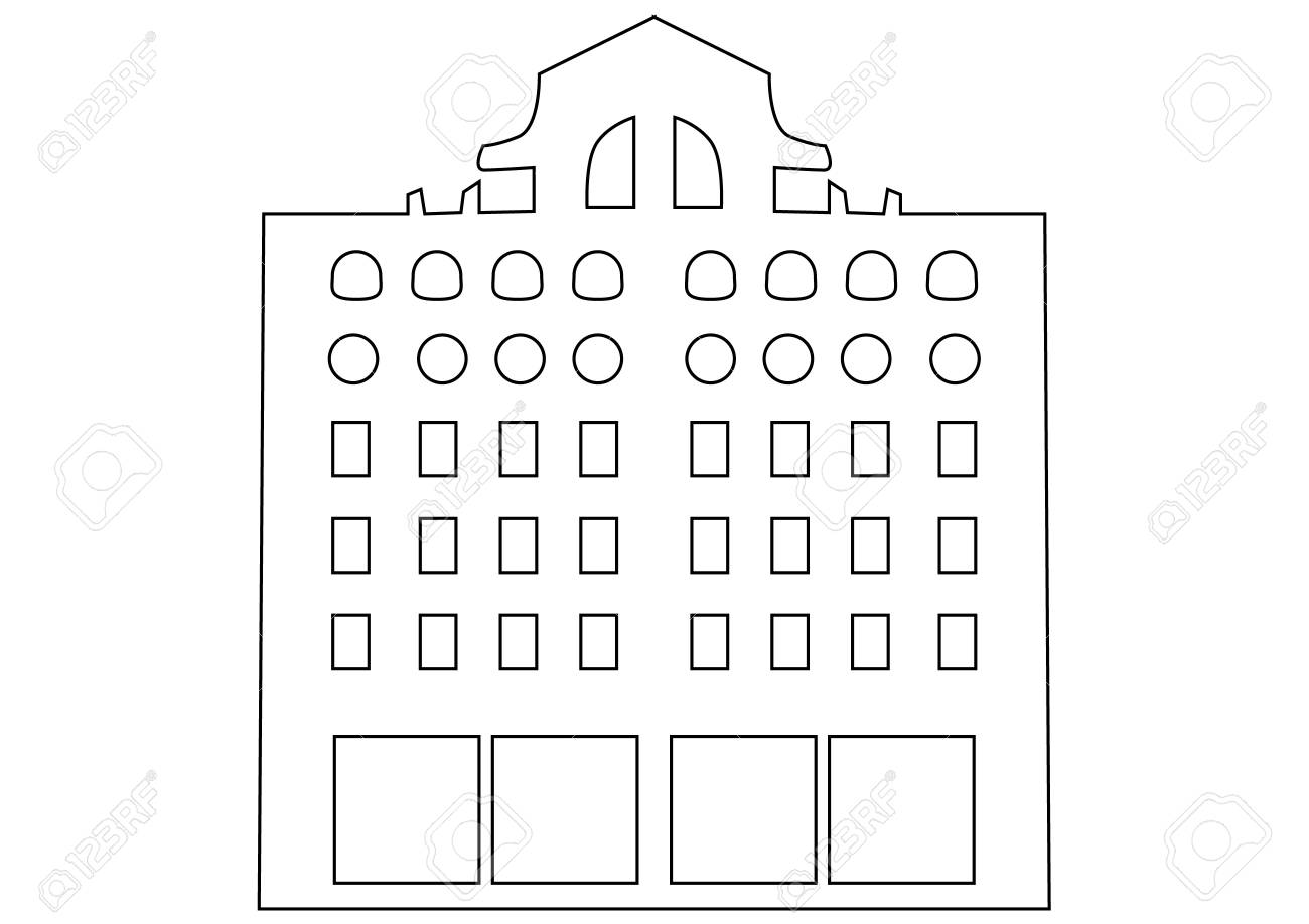 Contour Building Stock Vector - 13711506