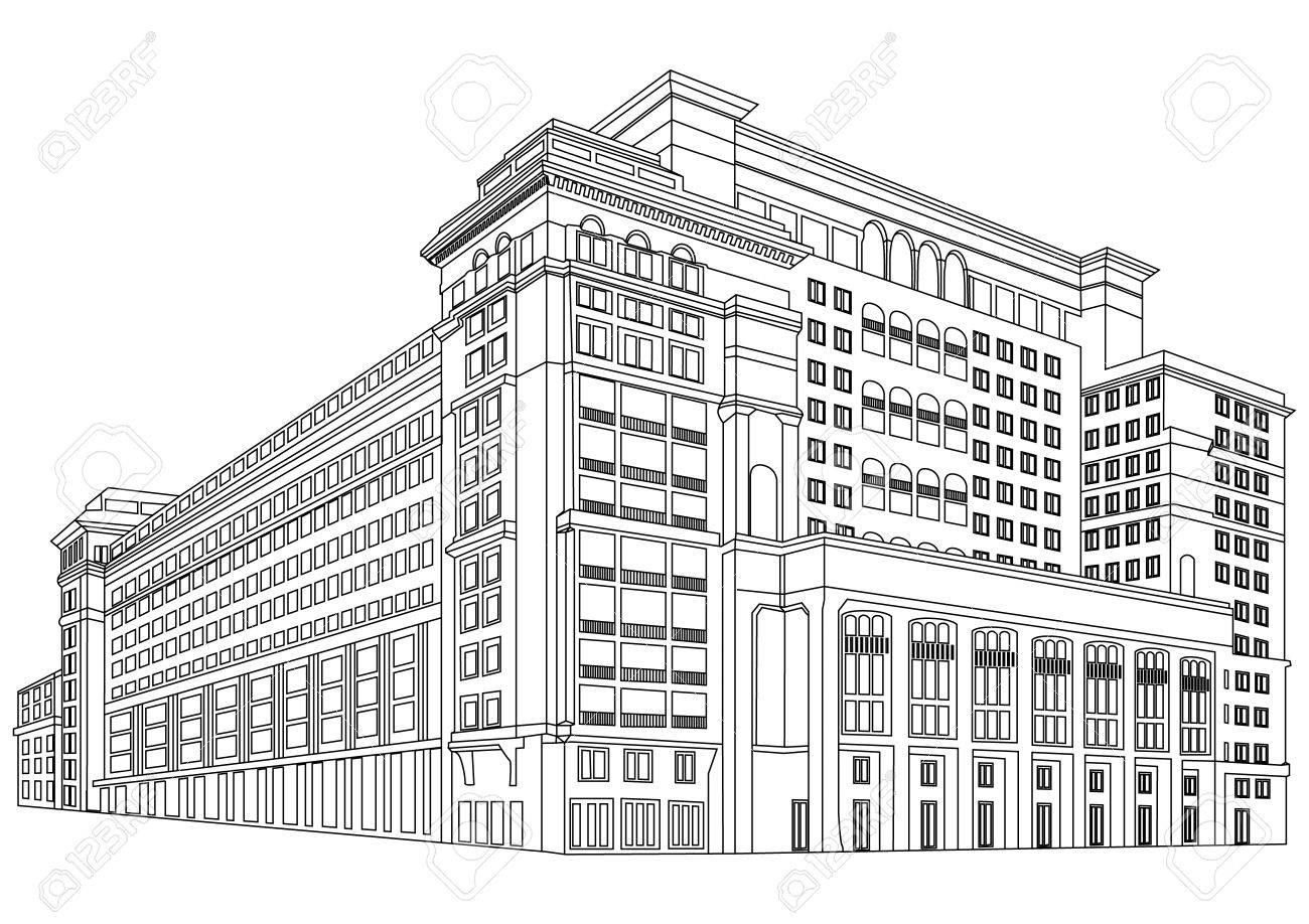 Contour Building Stock Vector - 13711677