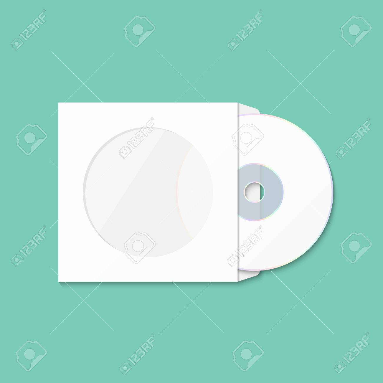 CD Cover Template DWD. Box For CD. Insulated Packaging For Discs ...