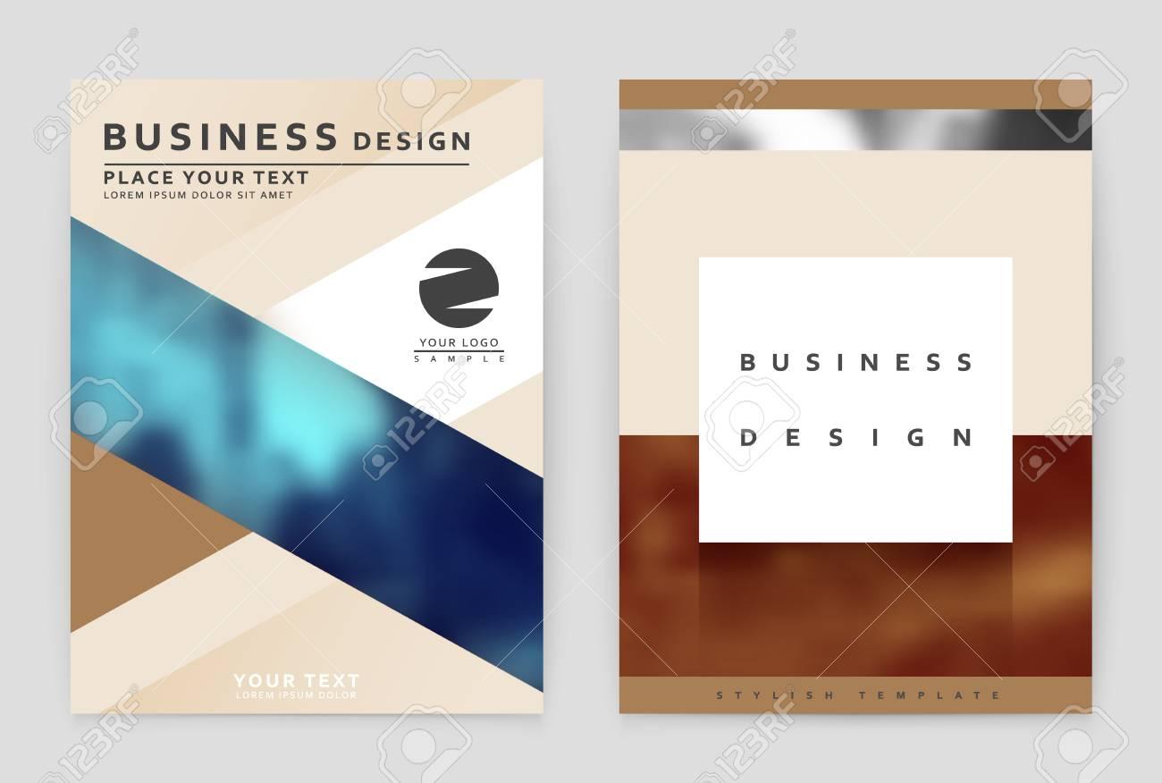 Layout-Design-Vorlage, Geschäftsbericht Broschüre. Business-Flyer ...
