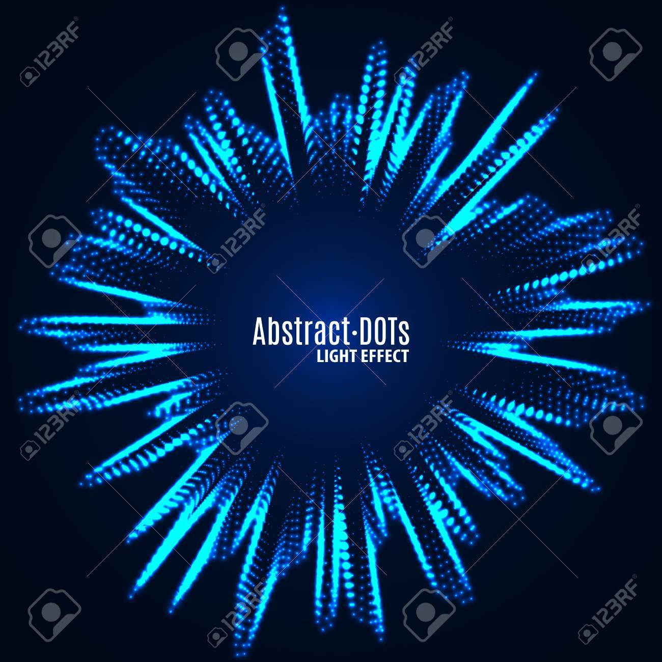 Minimalistic abstract lighten dots background vector illustration for album music or other cover. Design element of dots with same random and noise. - 69364061