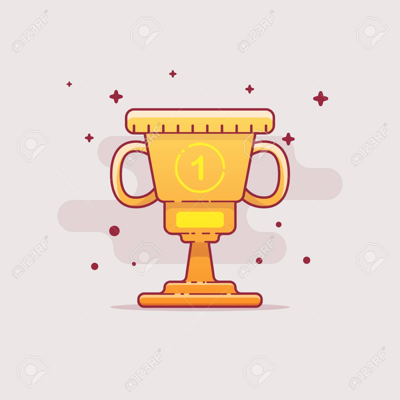 Gold flat cup - 103327365