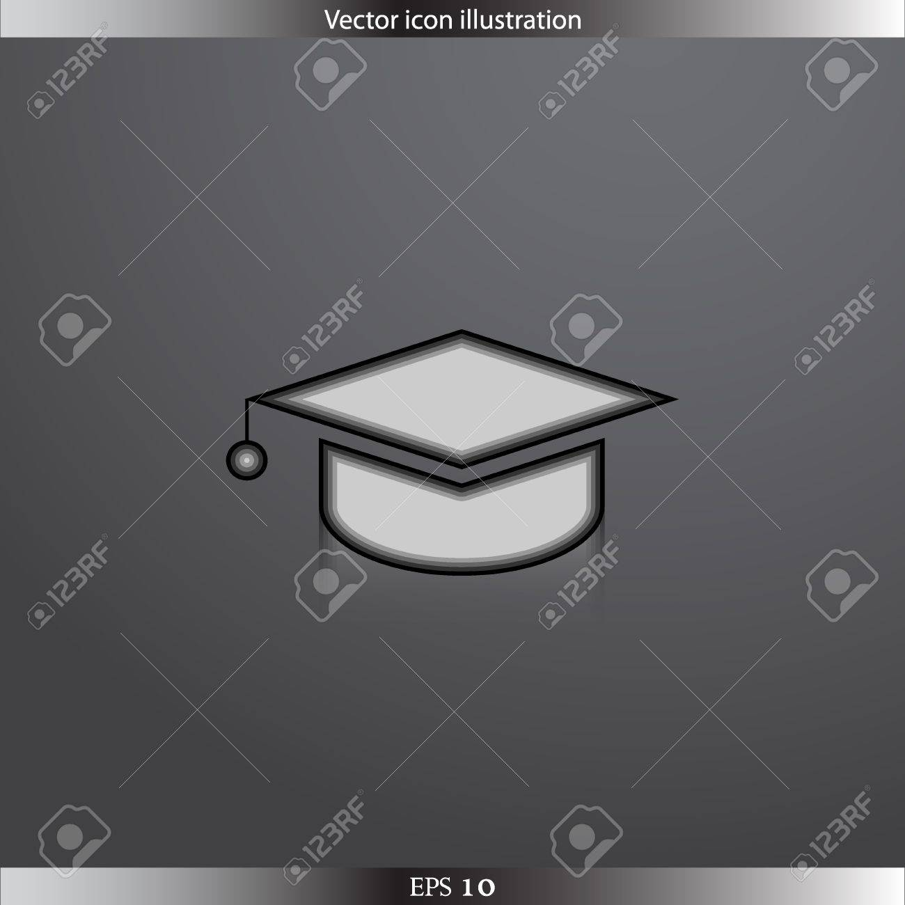Vector Academic Cap Web Icon Royalty Free Cliparts 3c6a3aef710