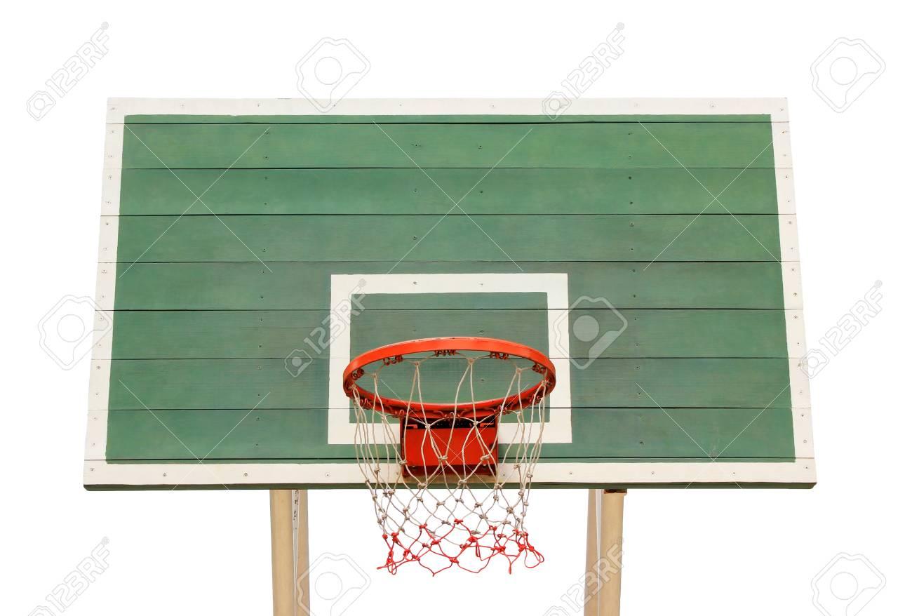 Basketball hoop isolated on white background Stock Photo - 16017072