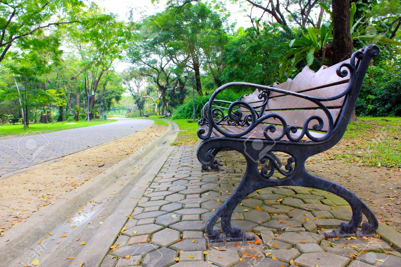 The chair in garden make by wood. Stock Photo - 17386205