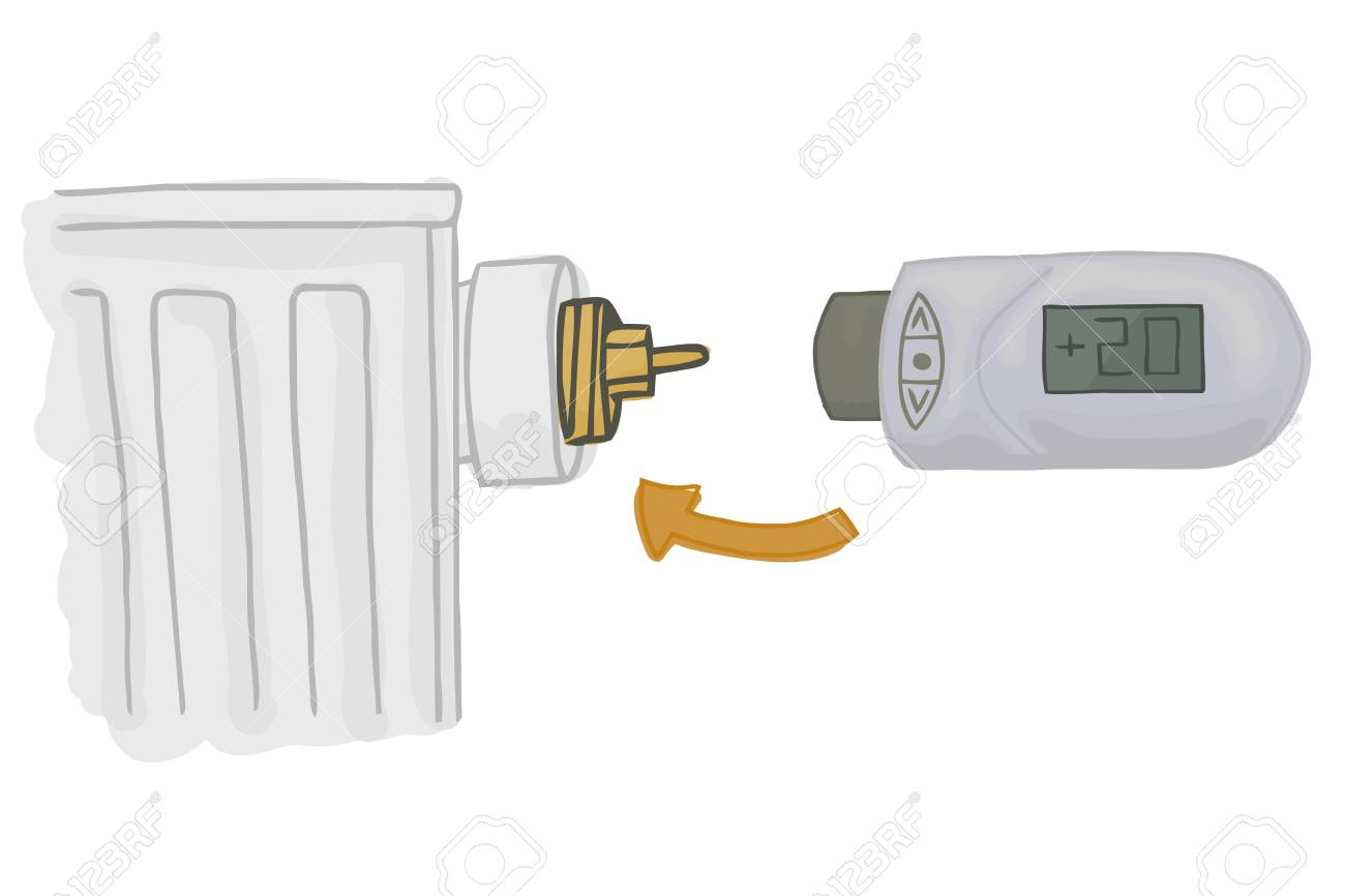 Heating Radiator With Electronic Thermostatic Head With Display ...