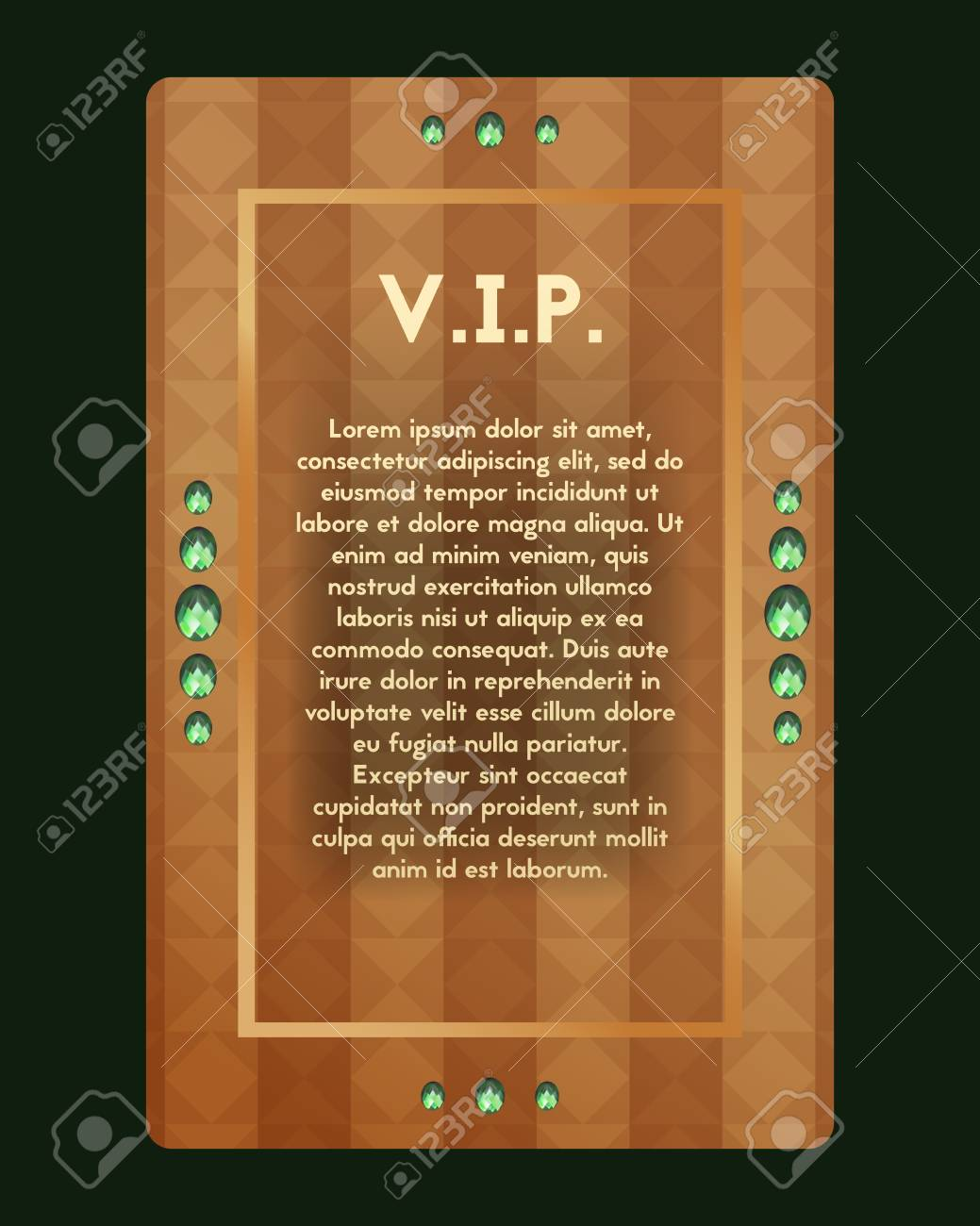 VIP Party Invitation. The Certificate Is Expensive Decorated ...