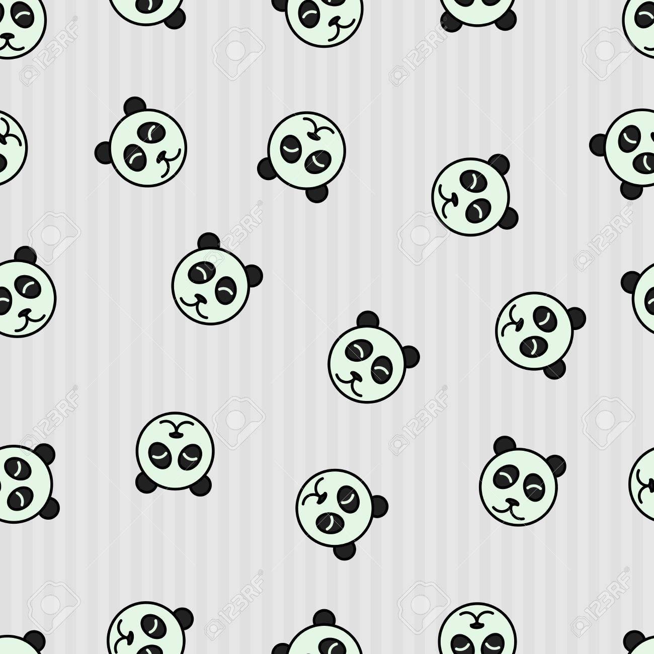 Fondo Transparente Con Panda. Dormir Ilustración Vectorial Animal ...