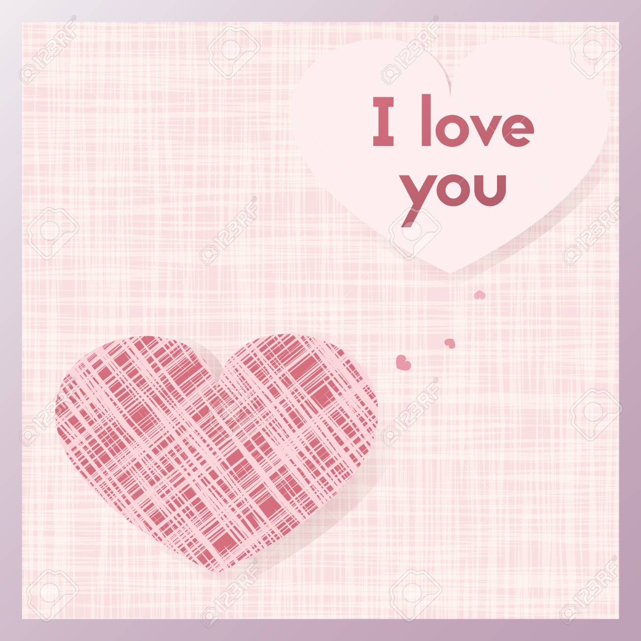 Romantic Gift Greeting Card For Lovers Royalty Free Cliparts