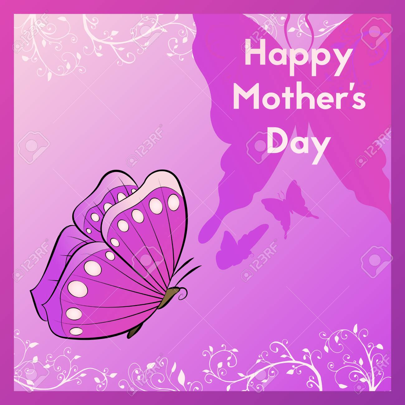 happy mother s day ecard for your mom violet greeting card
