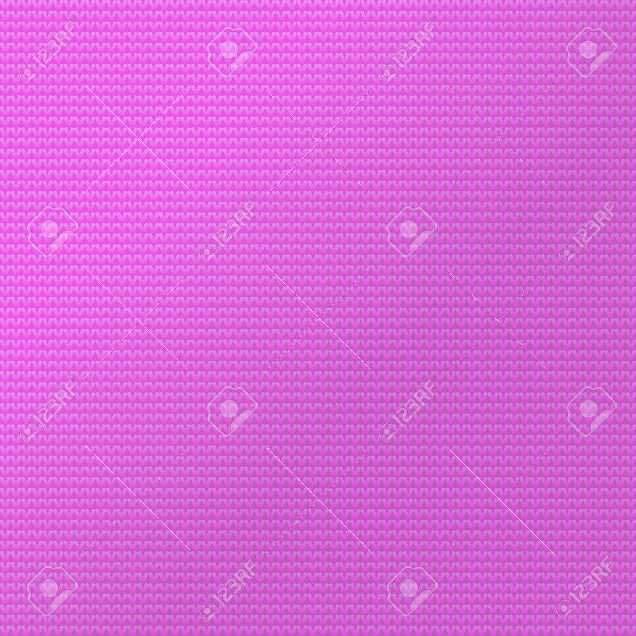 Knit Pattern Background. Sweater Fabric Pink Color Vector ...