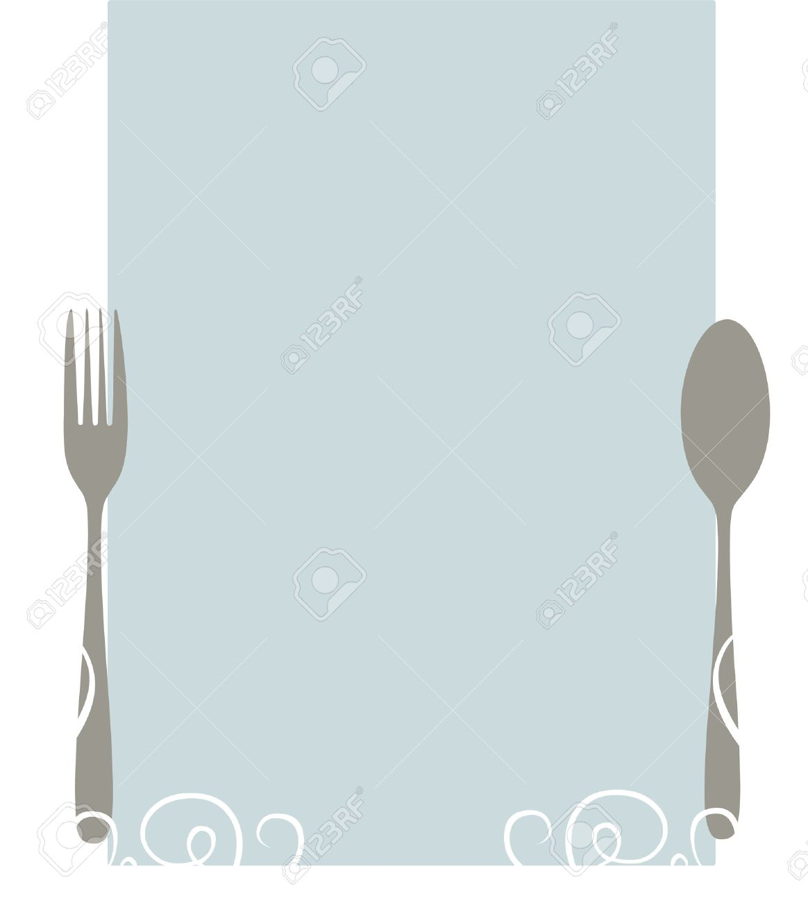 Elegant Blank Menu Template Royalty Free Cliparts Vectors And – Catering Menu Template Free
