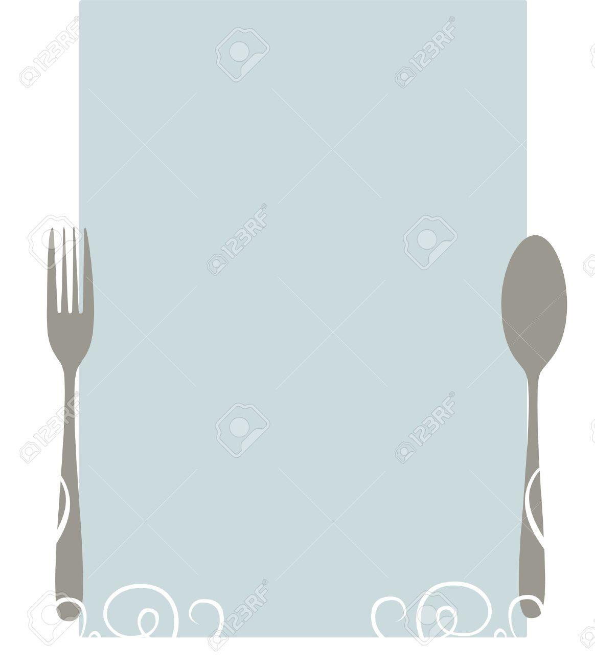 blank restaurant menu