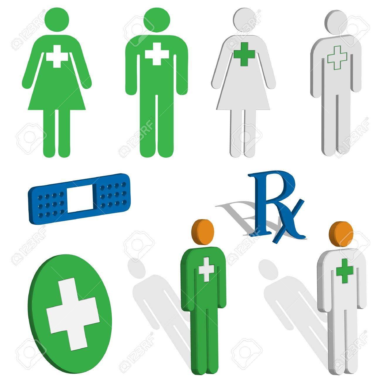 Medical and first aid icons Stock Vector - 12072086