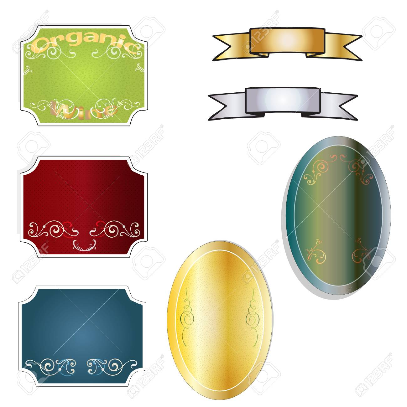Wine label set Stock Vector - 12246612