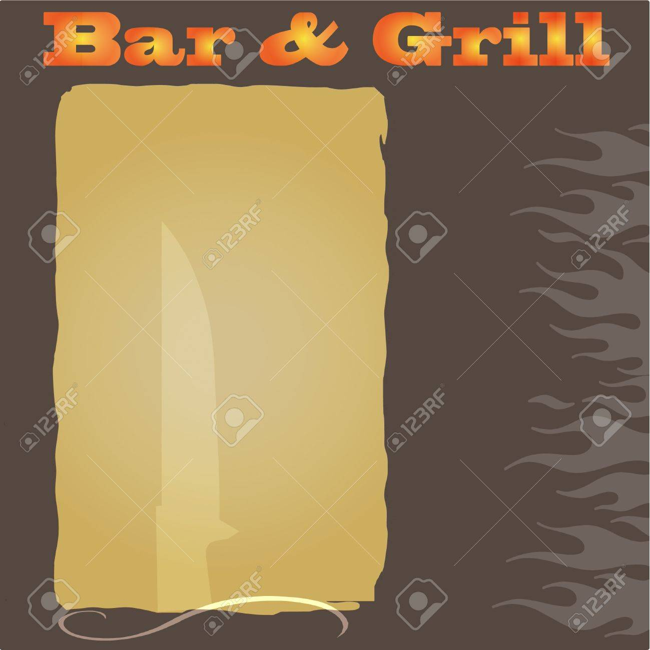 bar and grill menu background royalty free cliparts, vectors, and