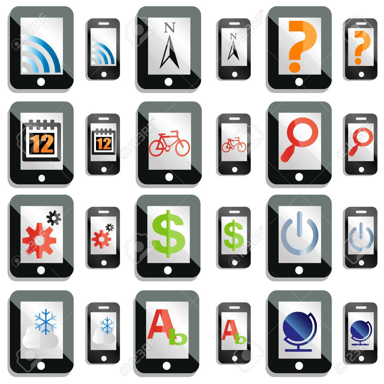 smartphone and tablet computer icons Stock Vector - 12246618