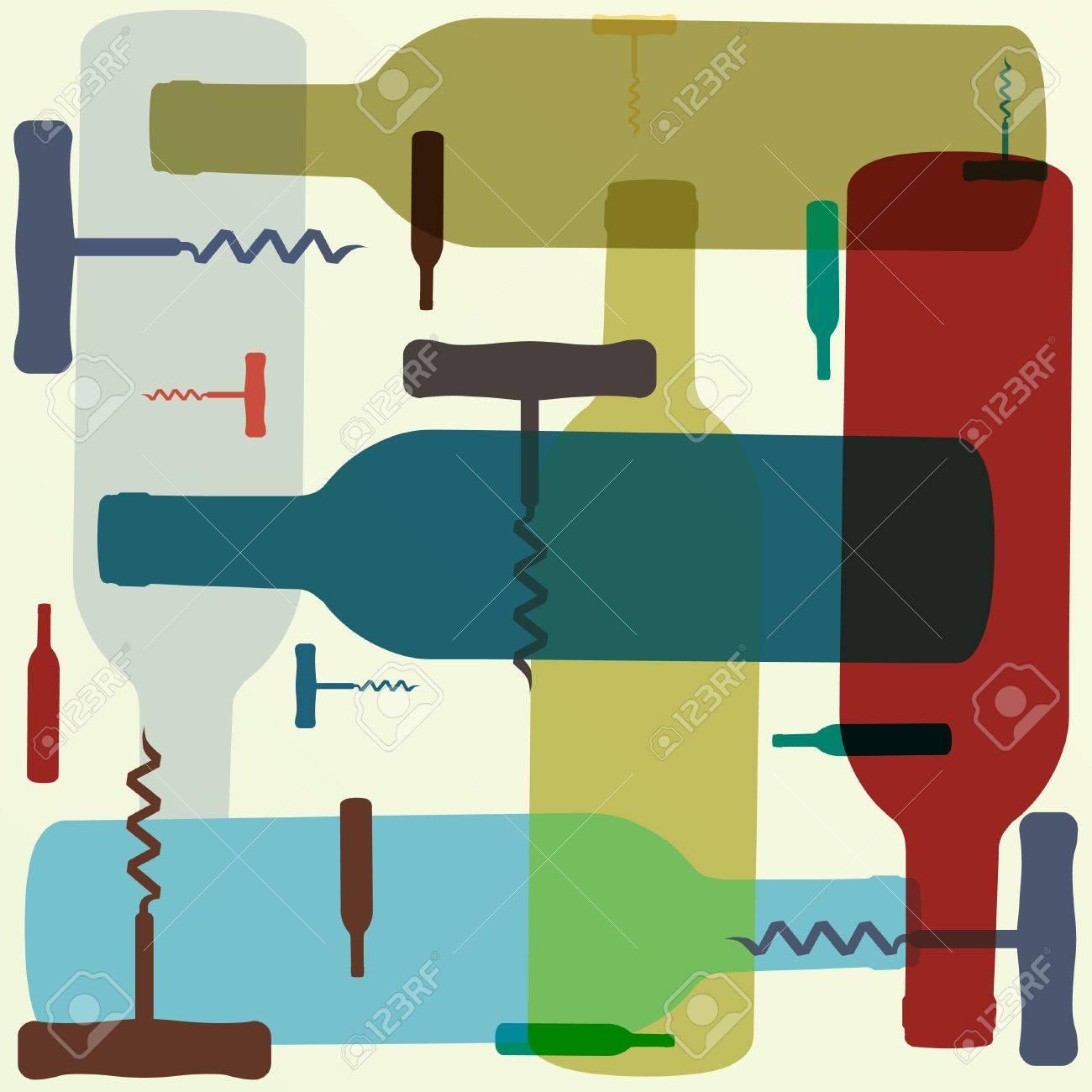 Retro style wine background Stock Vector - 12244789