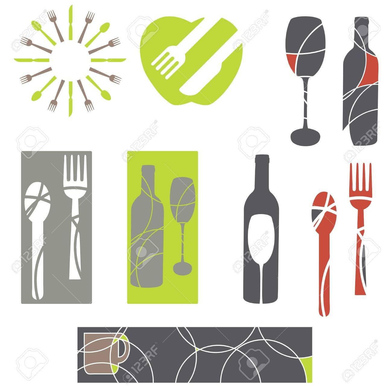 catering and menu graphics Stock Vector - 12483704