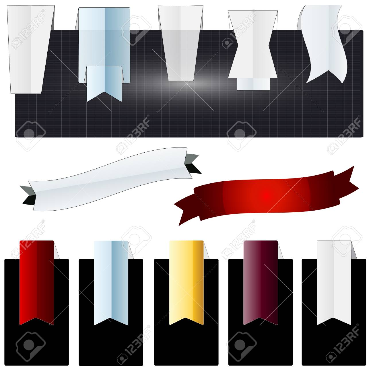 A set of navigation elements and background banners Stock Vector - 17570946
