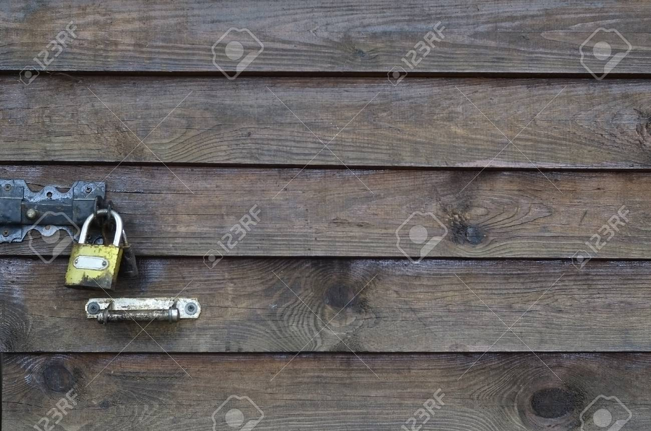 horizontal wood fence texture. Stock Photo - The Texture Of Weathered Wooden Wall. Aged Plank Fence Horizontal Flat Boards With Small Golden Lock. Wood O
