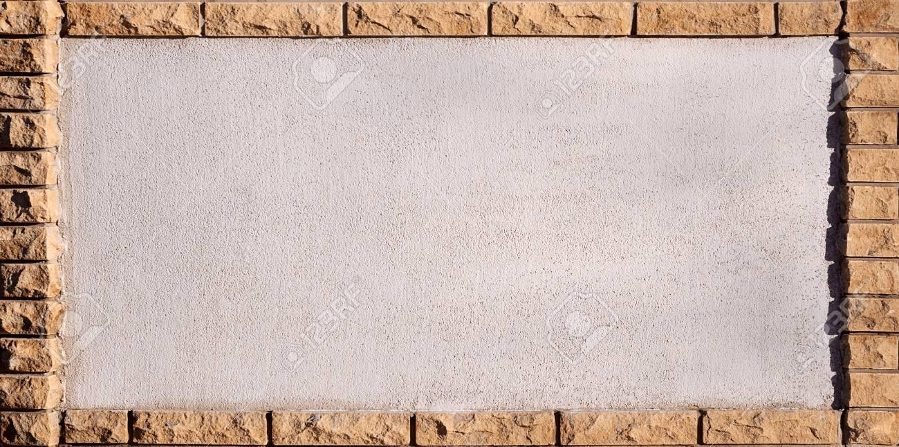 Rahmen Aus Mauerwerk. Ziegelrahmen Um Die Saubere Und Helle ...