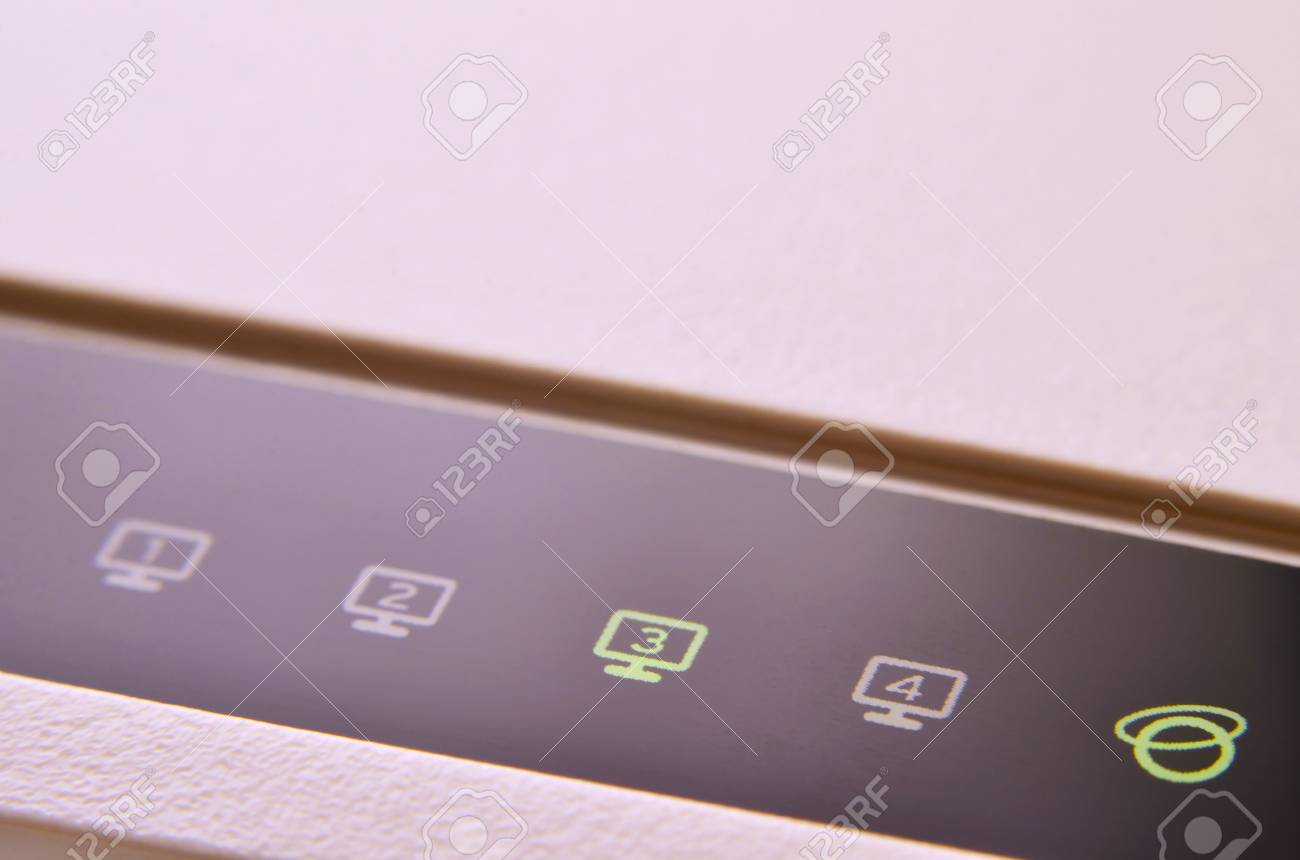 Closeup Of Internet Router Led Lights Showing Connection Status Stock Photo Picture And Royalty Free Image Image 70672715