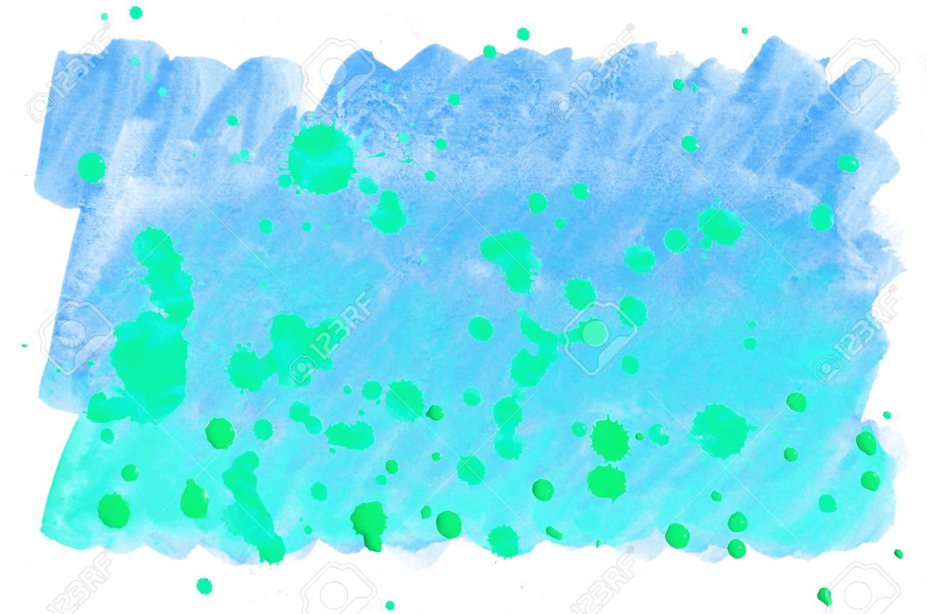 Fond De Peinture Liquide Aquarelle Pinceau Aquarelle Turquoise Bleu
