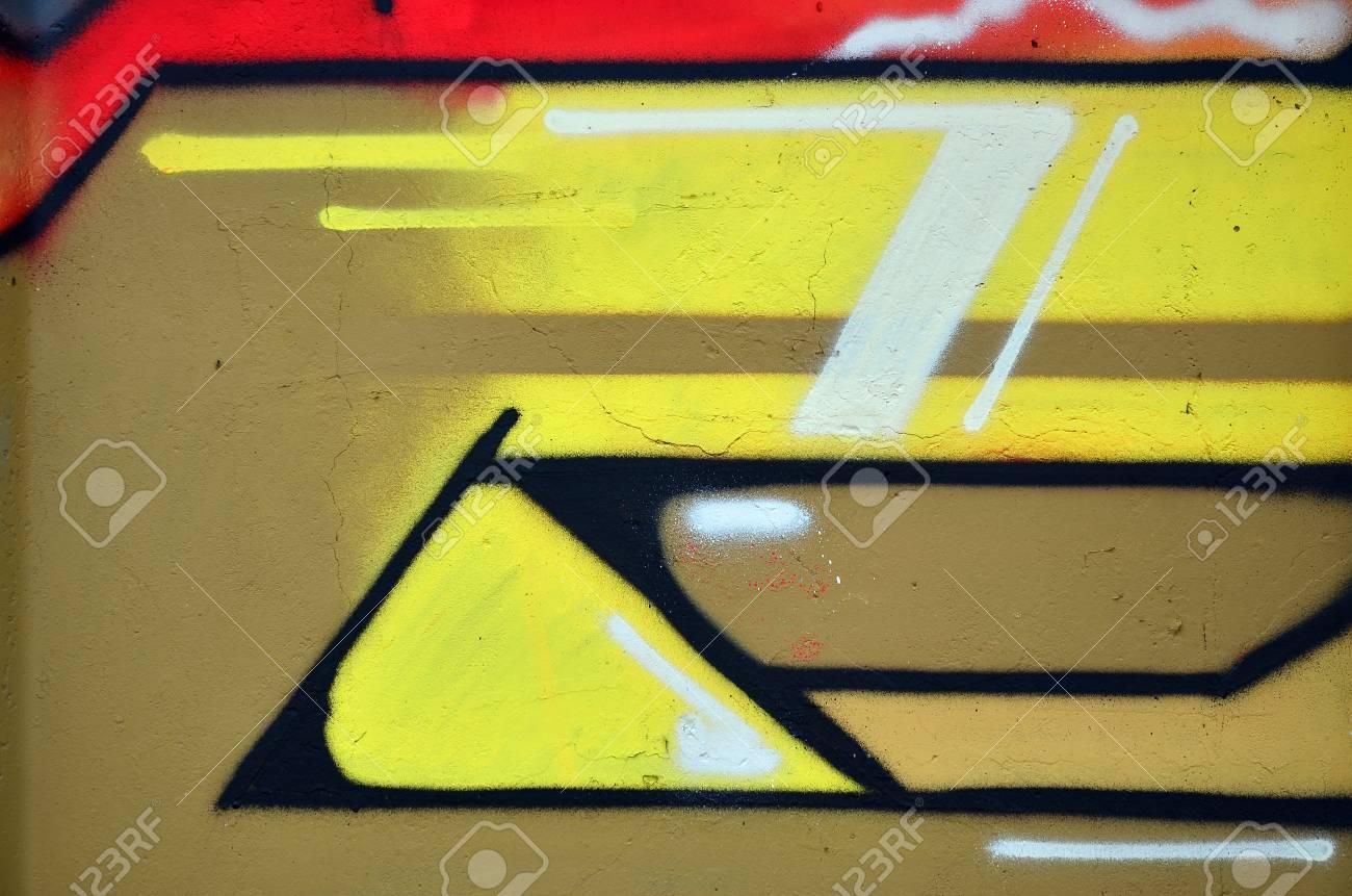 Beautiful Street Art Graffiti. Abstract Color Creative Drawing ...