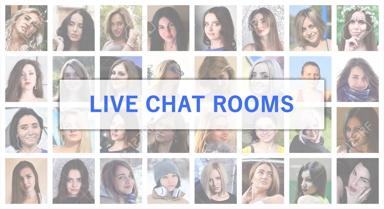 Live Chat Rooms. The Title Text Is Depicted On The Background ...