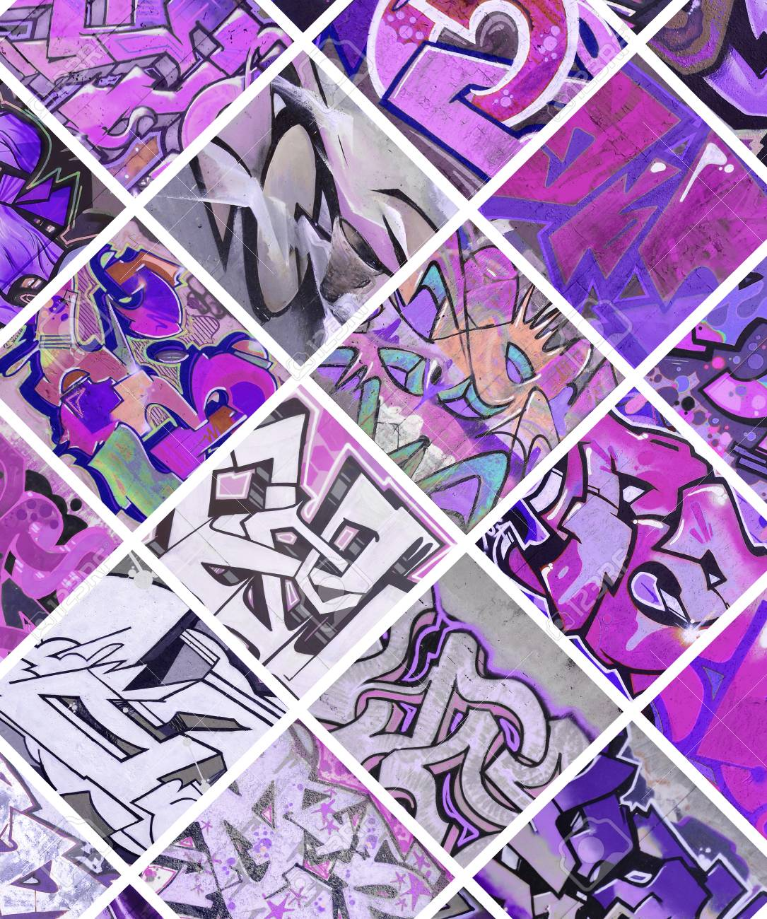 Graffiti Art Violet