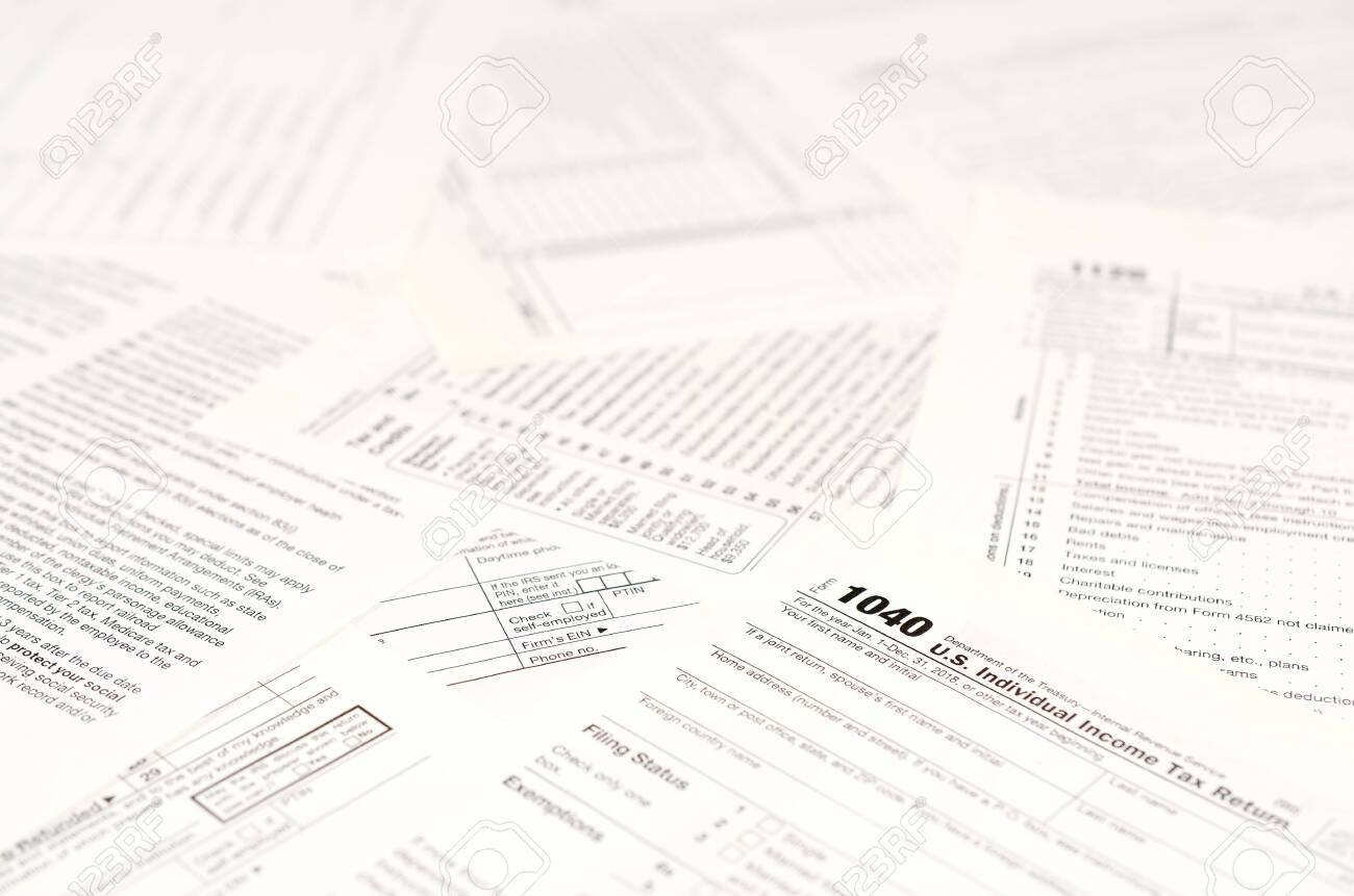 Blank income tax forms  American 1040 Individual Income Tax return